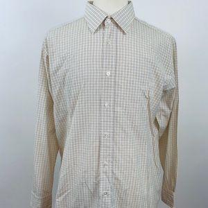 Hermès Men's Long Sleeve Button Down Shirt 17 1/2